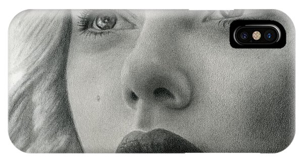 Hyper Realism iPhone Case - Scarlet Johansson by Erin Mathis