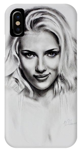 Scarlet iPhone Case - Scarlet Johansson by Mark Courage