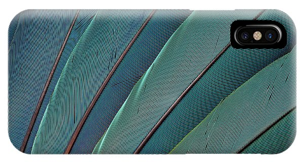 Scarlet iPhone Case - Scarlet Macaw Wing Feathers by Darrell Gulin