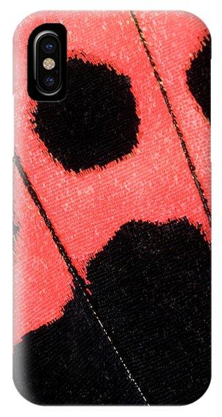 Scarlet iPhone Case - Scarlet Mormon Butterfly Wing Markings by Nigel Downer