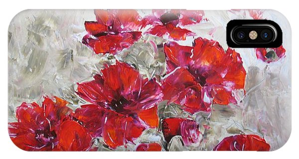 Scarlet Poppies IPhone Case