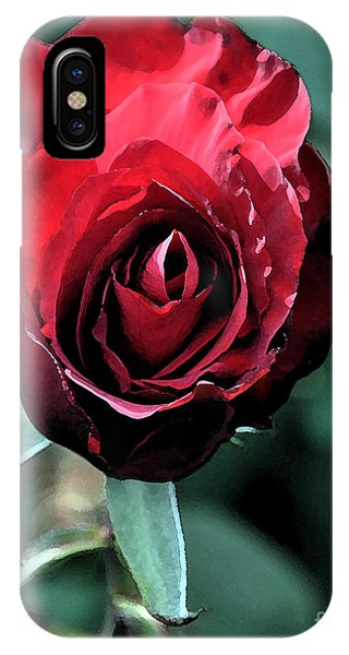Scarlet Rose IPhone Case