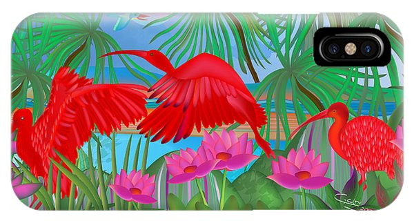 Scarlet Summer Dance - Limited Edition 1 Of 20 IPhone Case