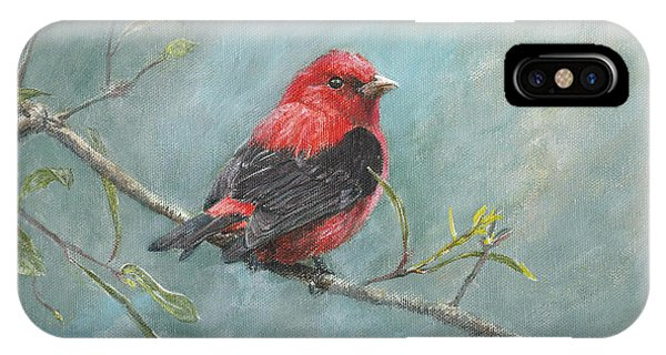Scarlet iPhone Case - Scarlet Tanager by Dreyer Wildlife Print Collections