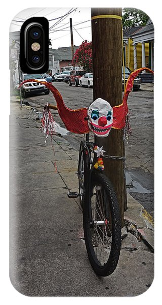 Scary Clown Bike In New Orleans IPhone Case