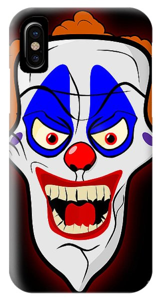 Dark Humor iPhone Case - Scary Clown by Martin Capek