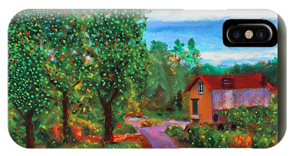 IPhone Case featuring the painting Scene From Giverny by Deborah Boyd