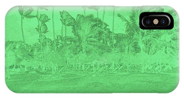 Scene In Green IPhone Case