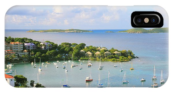 Scenic Overlook Of Cruz Bay St. John Usvi IPhone Case