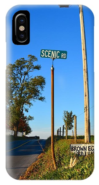Scenic Road With Brown Eggs 3rd Lane IPhone Case