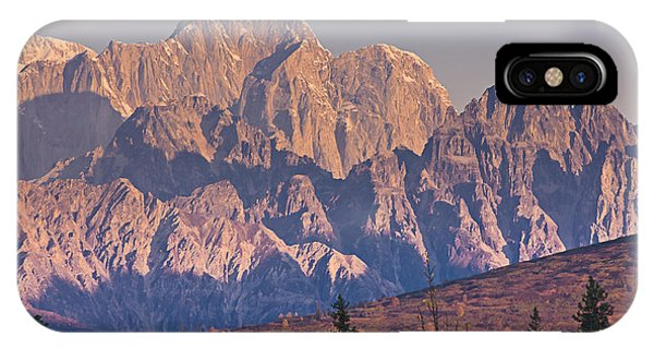 Scenic View Of Sunrise On Mooses Tooth IPhone Case