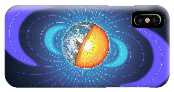 Schematic Of Van Allen Radiation Belts IPhone Case