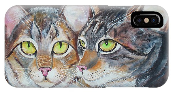 Scheming Cats IPhone Case