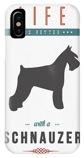 Schnauzer 01 IPhone Case