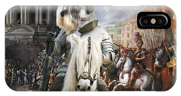 Schnauzer Art - A Siege The Sack Of Rome   IPhone Case