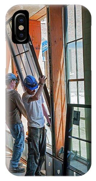 School Building Renovation IPhone Case
