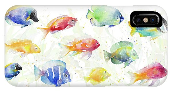 Sea iPhone Case - School Of Tropical Fish by Lanie Loreth