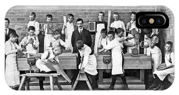 School Woodworking Class IPhone Case