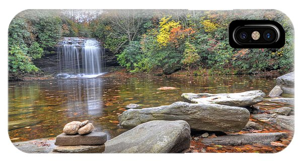 Schoolhouse Falls In Panthertown Valley Phone Case by Mary Anne Baker