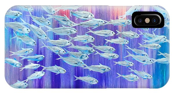 Schooling Fish IPhone Case