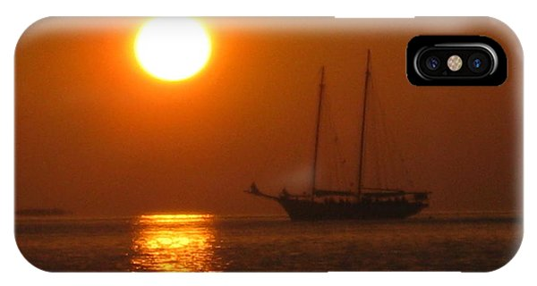 Schooner Sunset IPhone Case