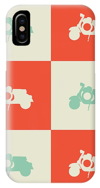 Witty iPhone Case - Scooter Poster by Naxart Studio