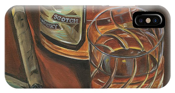 Cold iPhone Case - Scotch And Cigars 3 by Debbie DeWitt