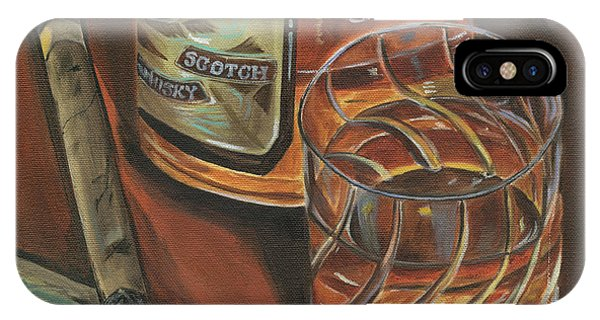Liquor iPhone Case - Scotch And Cigars 3 by Debbie DeWitt