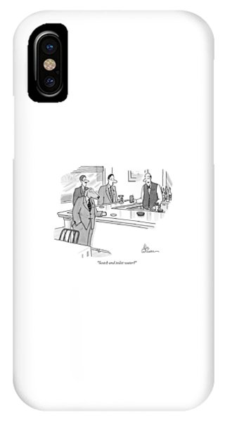 Scotch And Toilet Water? IPhone Case