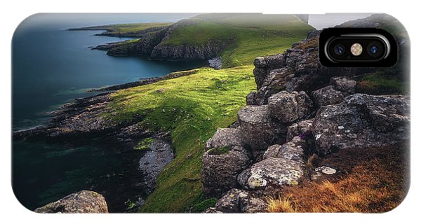 Long Exposure iPhone Case - Scotland - Neist Point by Jean Claude Castor