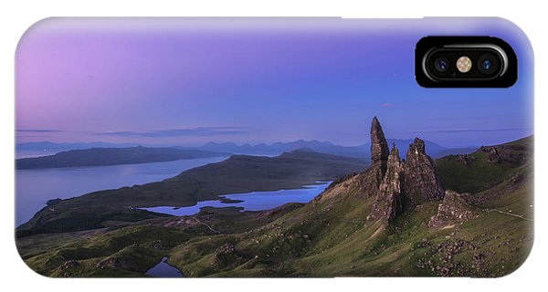 Travel iPhone Case - Scotland - Storr At Night by Jean Claude Castor