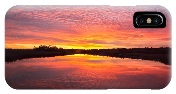 Scott Creek Sunset Panorama 03 IPhone Case