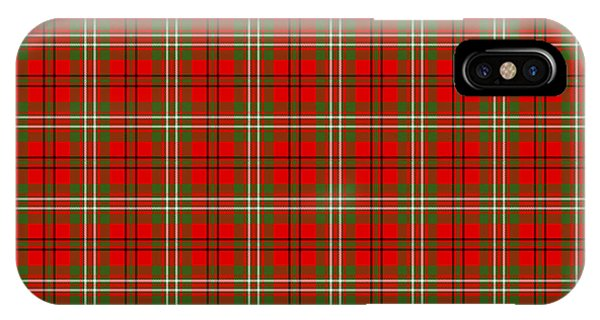 Scott Red Tartan Variant IPhone Case