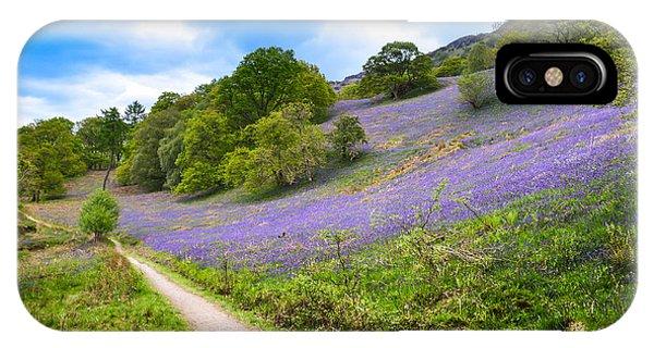 Scottish Bluebells On The Hillside Phone Case by Alex Zorychta