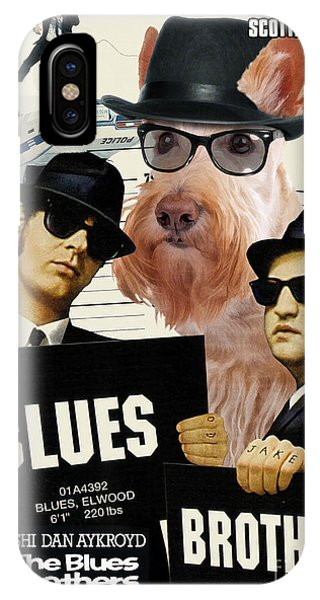 Scottish Terrier Art Canvas Print - The Blues Brothers Movie Poster IPhone Case