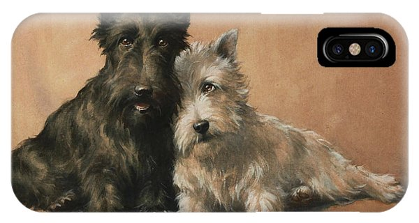 IPhone Case featuring the painting Scottish Terrier by Christopher Gifford Ambler
