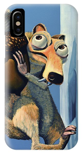 Dinosaur iPhone Case - Scrat Of Ice Age by Paul Meijering