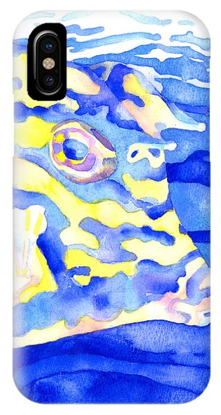 Scrawled Cowfish Portrait IPhone Case