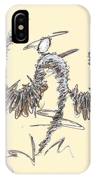 Scribble Angel 2 IPhone Case
