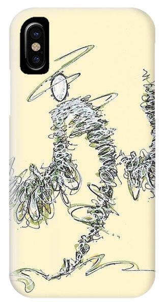 Scribble Angel 3 IPhone Case
