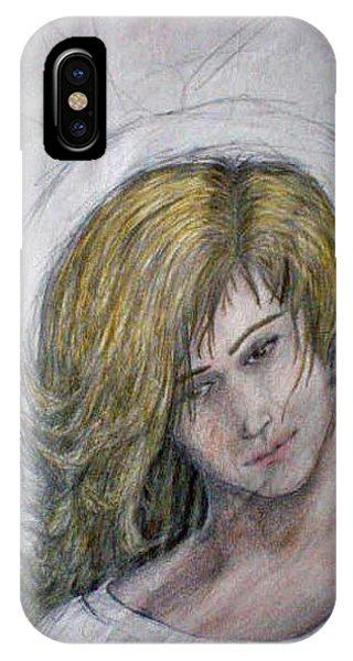 Scribble Angel Phone Case by Steve Spagnola