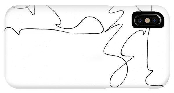 Scribble For There's No Turning Back Now IPhone Case