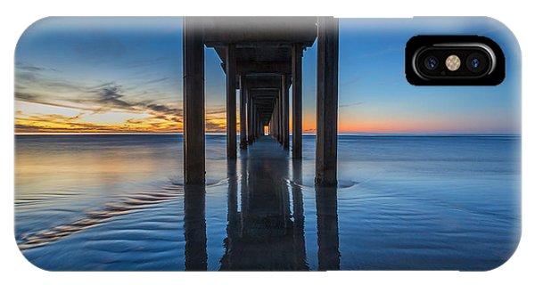 Scripps Pier iPhone Case - Scripps Pier Blue Hour by Peter Tellone
