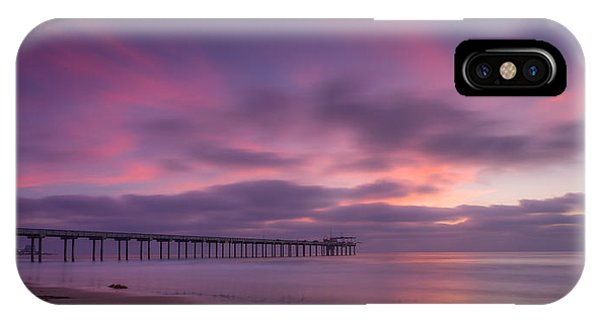 Scripps Pier iPhone Case - Scripps Pier Colors by Peter Tellone