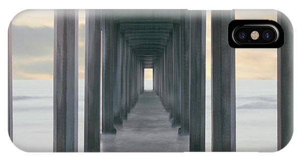 Scripps Pier iPhone Case - Scripps Pier Into The Pacific Ocean, La by Panoramic Images