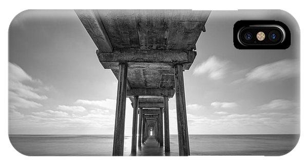 Scripps Pier iPhone Case - Scripps Pier La Jolla Long Exposure Bw by Michael Ver Sprill