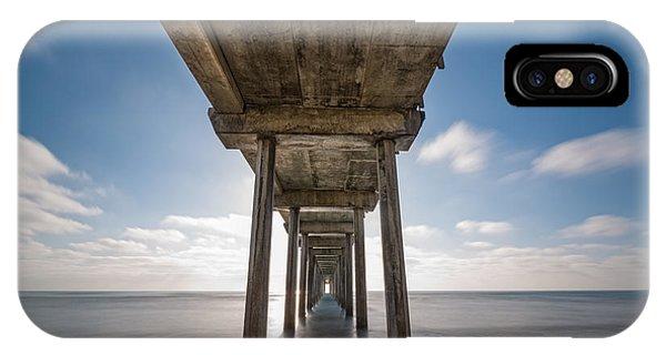 Scripps Pier iPhone Case - Scripps Pier Long Exposure by Michael Ver Sprill