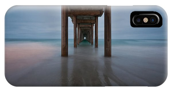 Scripps Pier iPhone Case - Scripps Pier Soft Blue by Peter Tellone