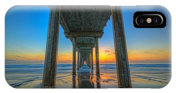 Scripps Pier Sunset IPhone Case