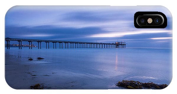 Scripps Pier iPhone Case - Scripps Pier Twilight - Color by Peter Tellone